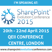 SharePoint Evolution Conference, London 2015