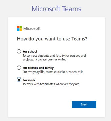 How do you want to use Teams dialog box
