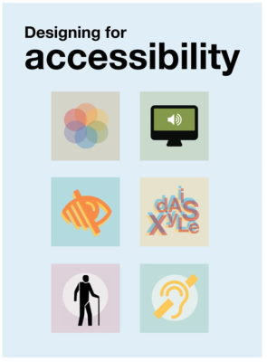 Design for Accessibility posters from UK Home Office